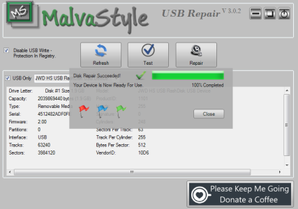 Removable USB Disk Repair - MalvaStyle Solutions