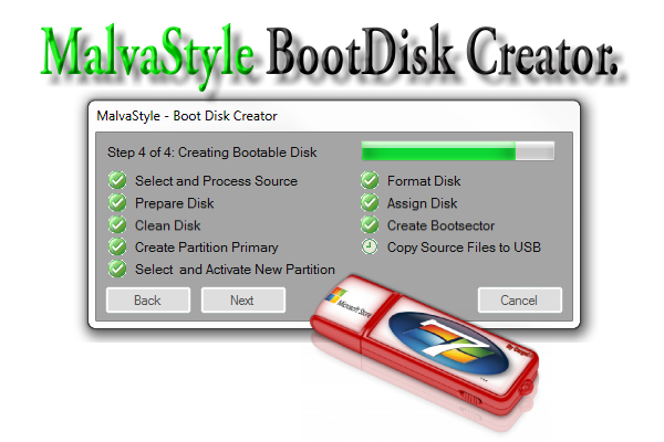 USB boot disk creator